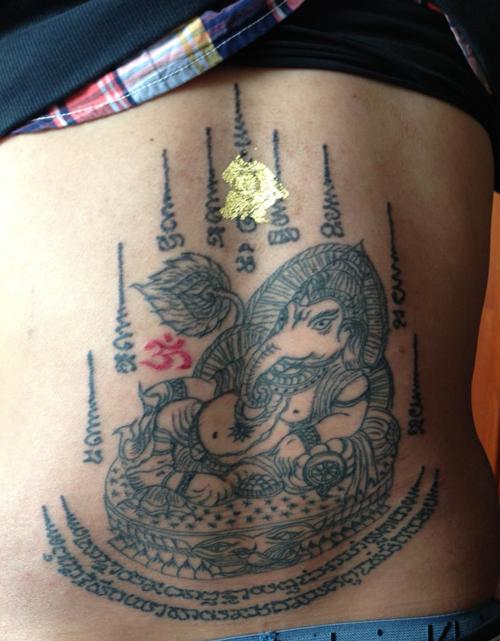 纹身图案:躺姿象神的图案意义