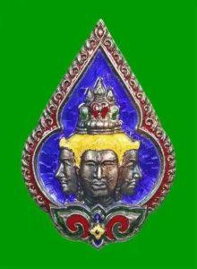 Wat Pailom龙婆判2546纯银龙牙四面神