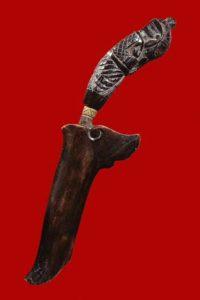 白衣阿赞chom加持 泰南法术第一寺庙考奥 成就之神 灭魔刀